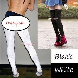 American Apparel Chain Thigh High Socks Over Knee